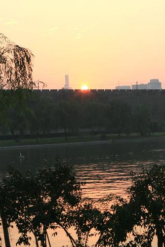 nanjing 南京 玄武湖 nanking xuanwulake 明城牆 mingcitywall sunrisesunset