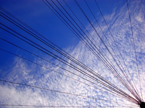 high clouds & phone wires