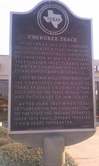 Photo of Sam Houston and Davy Crockett black plaque