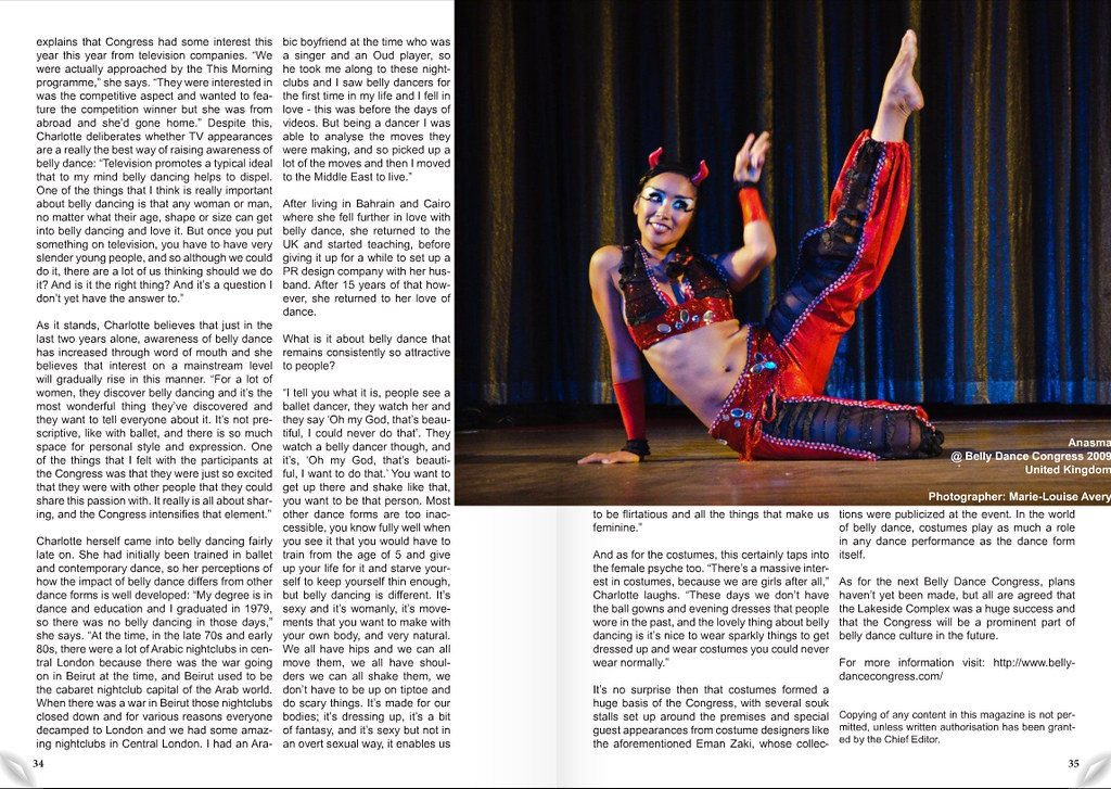 Anasma in Nafoura Magazine vol 1 Nov 2009 p 35