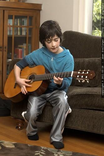 flynn on guitar