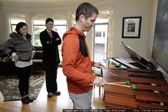 daniel gives marimba performance for rachel & megan