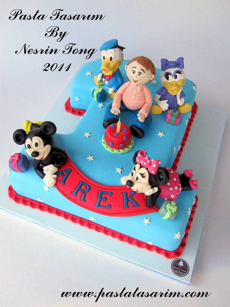 1st Birthday Cake Disney Characters Arek Birthday A Photo On