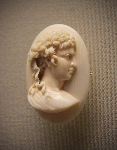 Ivory cameo, French, about 1850-60