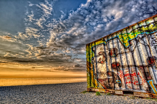 ocean sunset seascape texture beach clouds sunrise canon landscape graffiti seaside interestingness cloudy wideangle container explore hdr goldenhour markii summeroflove longshutterspeed canonef1740mmf4usml canoneos5dmarkii malmotown:is=visitors malmotown:node=4360