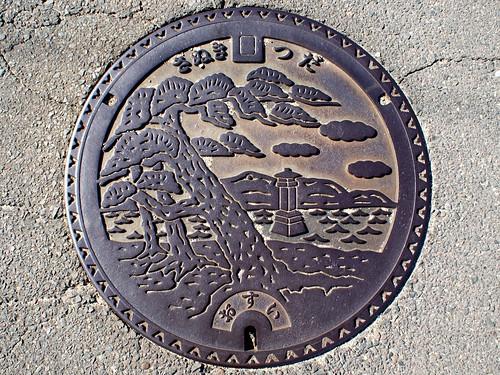 Tsuda Kagawa, manhole cover (香川県津田町のマンホール)