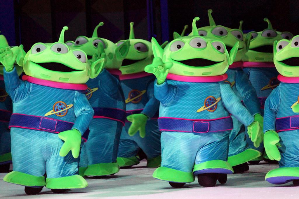 Green Disney Characters Little Green Ma...