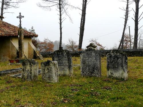 Saint Perdon (Landes): le cimetière, fermé à clé, de la chapelle Saint Orens