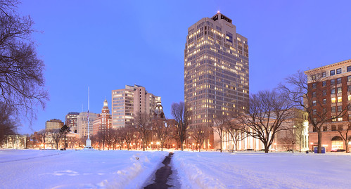 new city blue winter sunset usa snow haven cold building green ice lights hall us cityscape dusk connecticut centre center hour newhaven chilly chill skycraper civiv