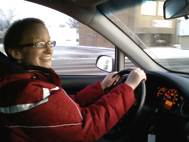 Lora driving her NEW Rondo home!!!