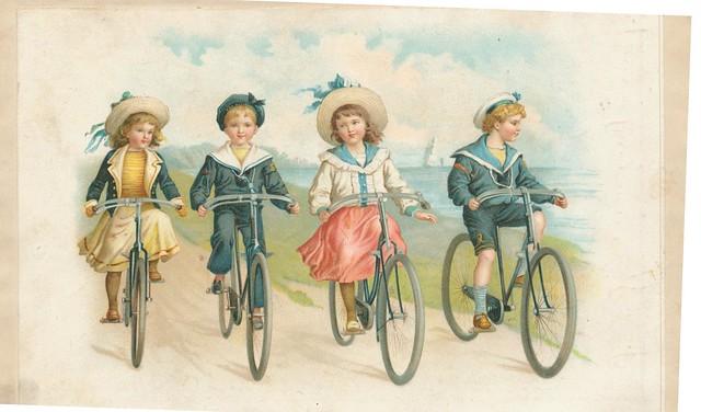 chr litho fietsende kinderen 1904