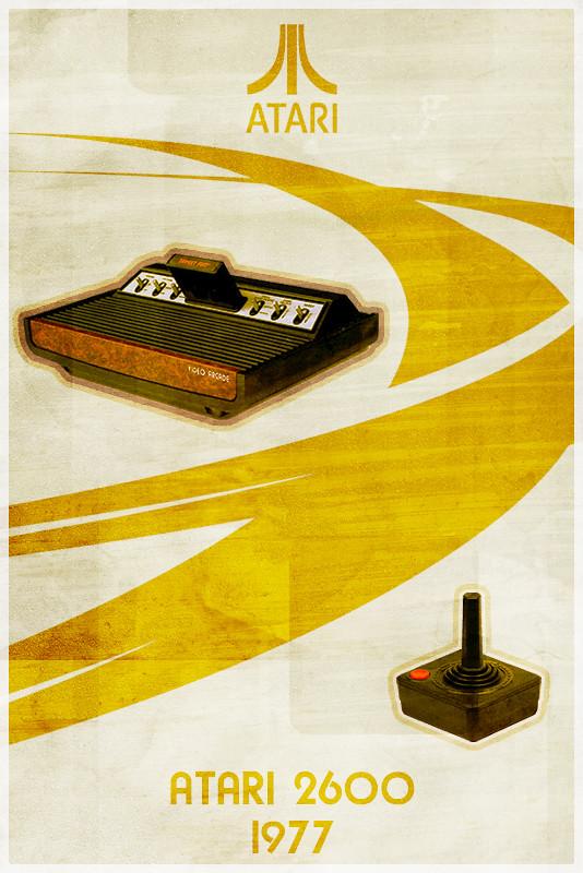 Atari 2600 - Retro Poster