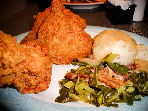 Fried Chicken at 50s Prime Time Cafe