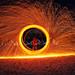 Ryan spinning fire on the lake michelle lightpaint by houstonryan