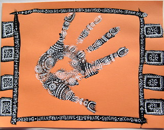 Handoodle with Gayatri Mantra