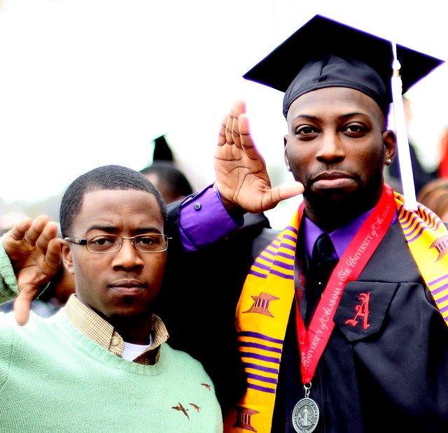 Graduation for the Bruhs at The University