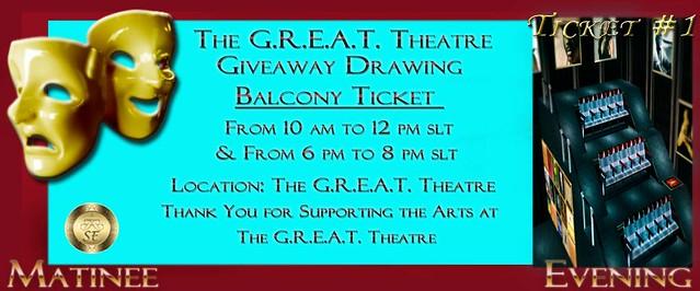 theatre ticket template balcony