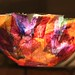 'stained glass' paper bowl - illuminated