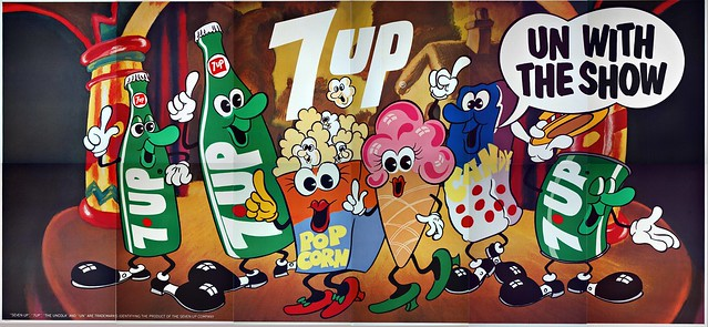 7Up_Un With The Show_vintage UnCola billboard poster by Ray Lyle, 1971
