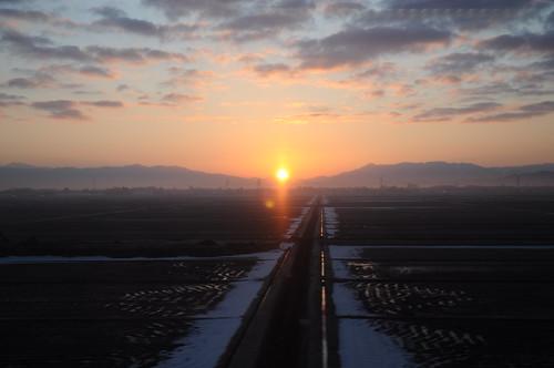 japan sunrise railway 鉄道 2011 friendlyflickr