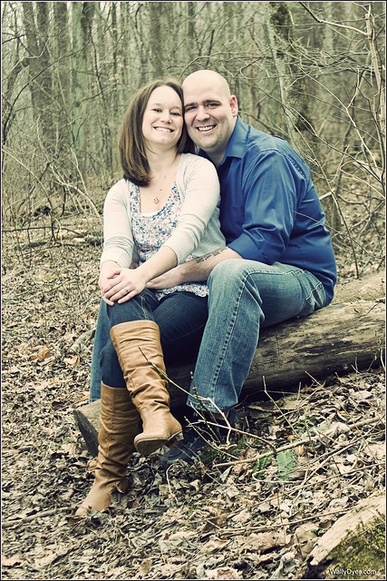Steph and Sherman Hardesty's engagement pic