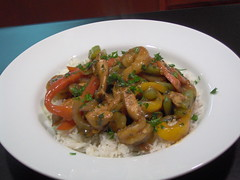 Lemon-Marinated Chicken and Shrimp over Basmati Rice