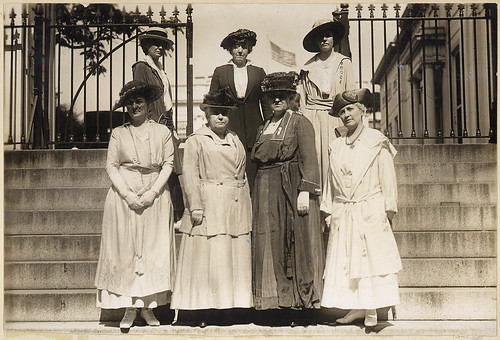 This delegation of officers of the National American Woman Suffrage Association received from President Wilson ... by The U.S. National Archives