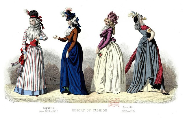 French Fashion Plate - 1790-1794