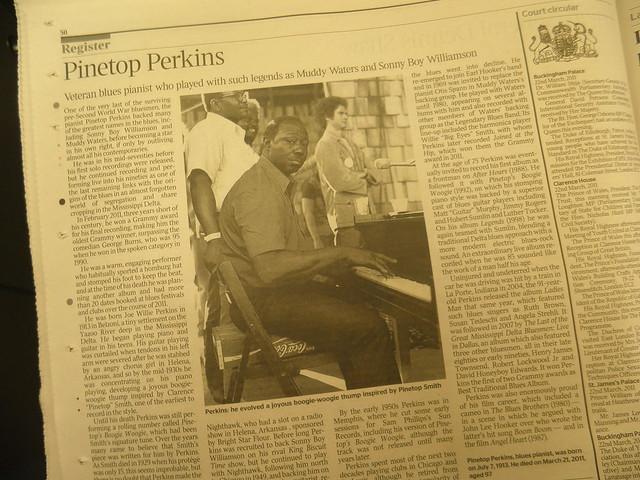 Obituary: Pinetop Perkins