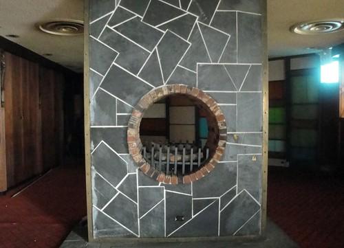 beautifully designed fireplace