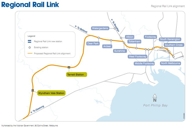 Regional Rail Link proposed route