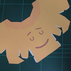 วิธีทำโมเดลกระดาษตุ้กตาสัตว์เลี้ยง หยดทองจากเกมส์ คุกกี้รัน (LINE Cookie Run Gold Drop Papercraft Model - クッキーラン  「黄金ドロップ」 ペーパークラフト) 011