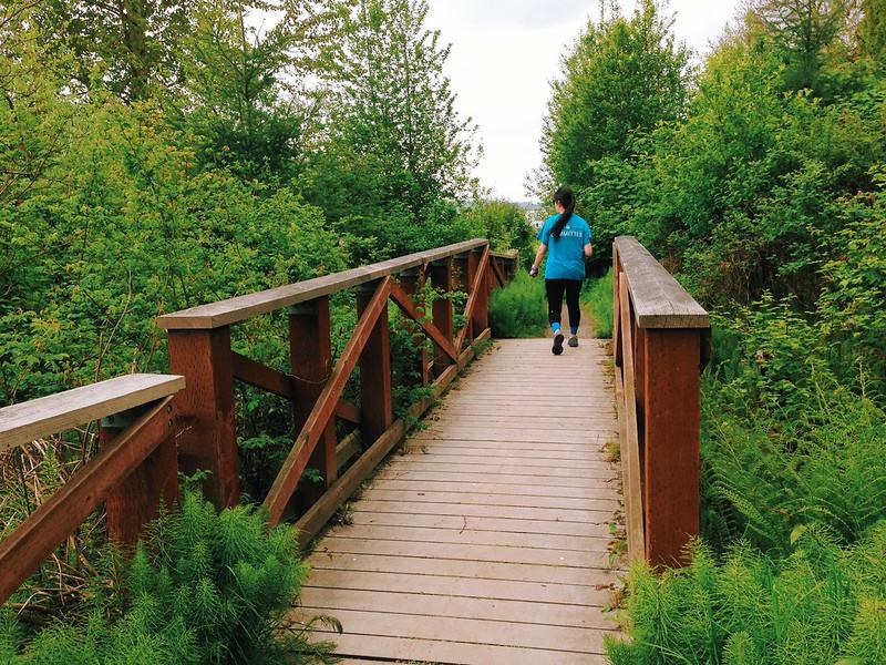 Running with the BFF along Lake Washington