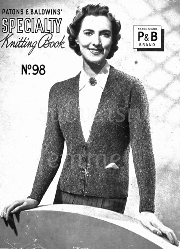 Free 1930's Knitting Pattern Booklet by Bex P&B's Speciality Knitting Book No.98