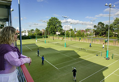 Windsor Tennis Courts Belfast, from the viewing balcony