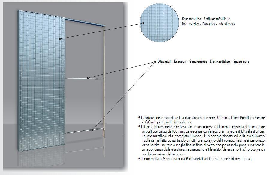Controtelaio per porte scorrevoli doortech by scrigno ebay for Controtelaio doortech