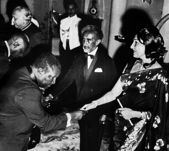 The Bhuttos with the Ethiopian monarch Haile Selassie