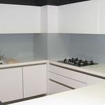 Cristal Decorflou pared cocina