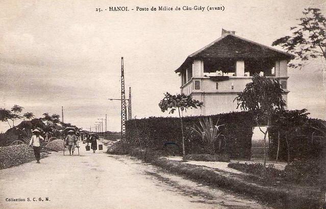 Hanoi - Poste de Milice de Cau Giay