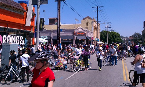 LA's Bicycle District during the April 10, 2011 CicLAvia