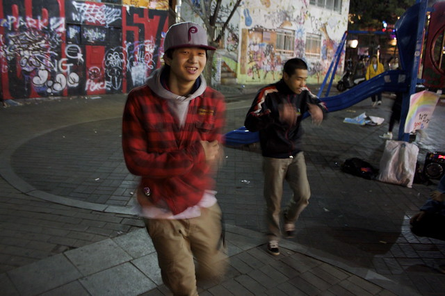 Performers in Hongdae, Seoul at Night by seafaringwoman via Flickr