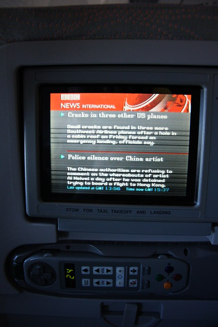 BBC News at 30.000ft (and a few more ways to pass your time in a plane)