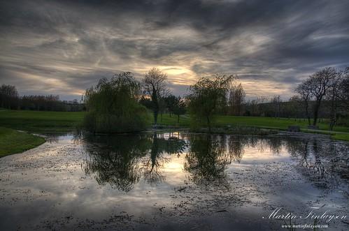 sunset water wales reflections golf evening nikon gimp vale hdr d300 photomatix 18105vr