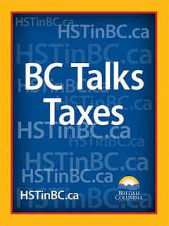 BC Talks Taxes poster