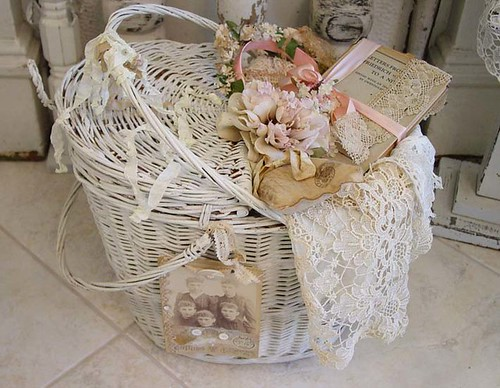 Beautiful White Wicker Basket!