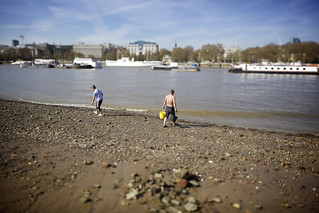 Image of DirtyBeach project near London. london thames shift bank southbank tilt riverthames ts southwark tse se1 tiltshift canoneos5dmarkii eos5dmarkii tse24mmf35lii canontse24mmf35lii