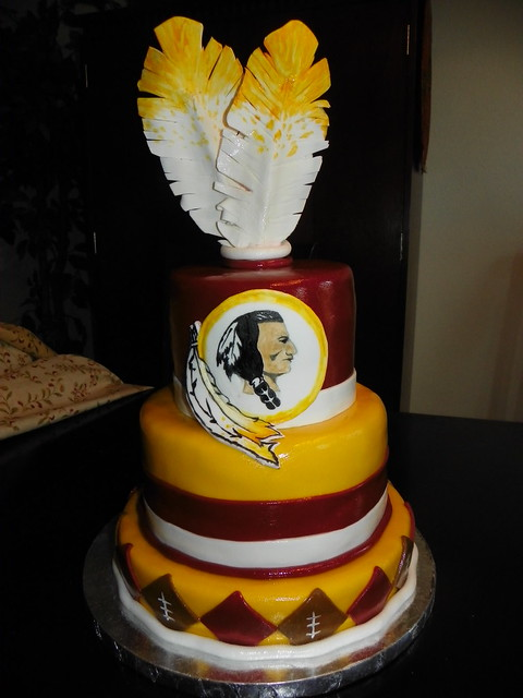 redskin birthday cake