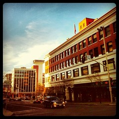One last view of downtown Spokane right towards evening.