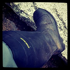 Wearing my new Storm Master gumboots