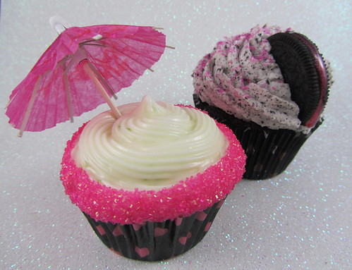 Pink Margarita and Oreo Cupcakes